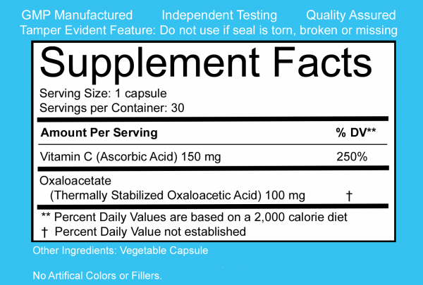 benaGene Capsules Label (Supplement/Nutritional Facts)