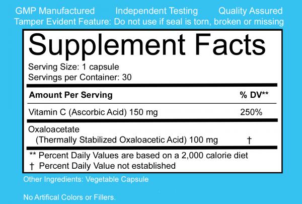 benaGene Capsules Label (Supplement/Nutritional Facts)